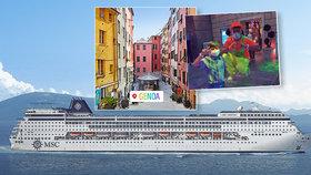 První výletní loď s 3 tisíci lidmi vyplula z Janova: Roušky na palubě a zásoby dezinfekce