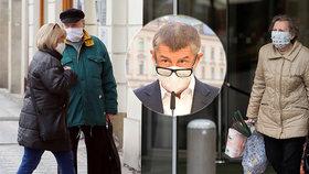 Babiš slibuje: Důchodcům pošleme respirátory poštou, když bude hůř. Řeší se i roušky pro voliče