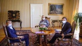 Babiš, Hamáček a Zeman řešili konec šéfa antimonopolního úřadu. Odvolá ho prezident?