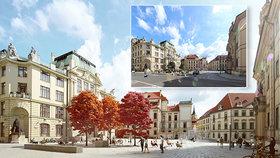 Mariánské náměstí dostane nový kabát. Místo parkoviště tu bude fontána s lavičkami a klidové zóna