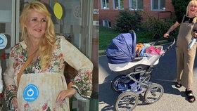 Těhotná Vendula Pizingerová se chlubila modrým kočárkem! Co tím naznačuje?