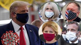 Politici i první dámy v souboji s virem: Jak se chrání Babiš, Čaputová nebo Trumpová?