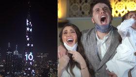 Netradiční těhotenský večírek: Známí youtubeři oznámili pohlaví dítěte na nejvyšší budově světa