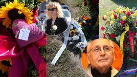 Smutek i přes zákaz vdovy Olgy! Pieta za Jiřího Menzela (†82) plná věnců a dojetí