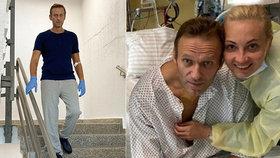 Otrávený Navalnyj po fotce s rodinou: V nemocnici opět na nohou! A popsal své potíže
