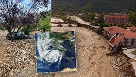 Obrazy zkázy: Hurikán udeřil na Řecko. 3 mrtví, zaplavené ulice i obchody i na Krétě