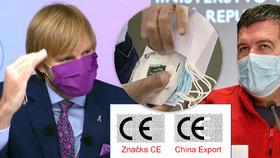 Respirátor zdarma pro důchodce: Ochrání je dovoz z Číny? Vojtěch tápal, Hamáček vysvětluje