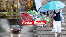 Předpověď na nový týden: Po sluníčku přijdou i bouřky a přeháňky, sledujte radar Blesku