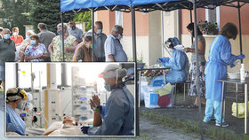 """Koronavirus """"kosí"""" české zdravotníky. Za měsíc přibyly stovky nakažených lékařů i sester"""