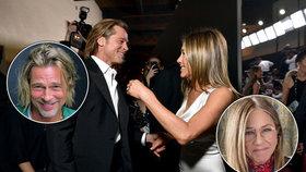 Brad Pitt znovu s Jennifer Anistonovou?! Jsi zatraceně sexy, lichotila mu