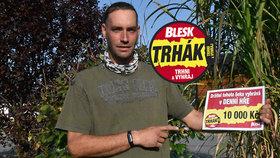Lukáše Kubíčka (39) z Lesnice u Zábřehu výhra v Trháku zahřeje: Deset tisíc bude na dřevo