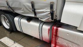 Hromadná nehoda blokovala Pražský okruh. Srazily se tři kamiony, tvořily se dlouhé kolony