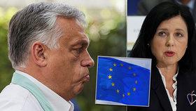 """Orbán žádá hlavu Jourové. Vadí mu """"hanlivá prohlášení"""", Češka má v Bruselu zastání"""