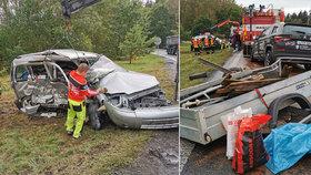 Tragická nehoda uzavřela hlavní tah na Karlovy Vary: Po srážce dvou aut zemřel jeden muž