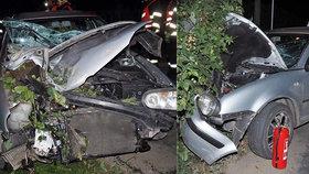 Opilý mladý řidič naboural do zábradlí mostu: Spolujezdkyně (24) skončila v nemocnici