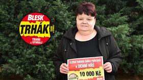 Květa Nagyová (62) z Ústí nad Labem se raduje z výhry v Trháku: 10 tisíc na ulici nenajdete