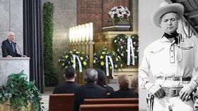 Pohřeb Limonádového Joea Karla Fialy (†95): Županič vynechal čtvrtého syna! Proč?