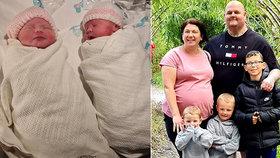 Maminka skončila kvůli koronaviru v umělém spánku: Po probuzení porodila zdravá dvojčata