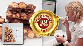 Mléčné čokolády: Oříšků mají tak od oka, test ukázal až dvojnásobný rozdíl!