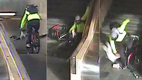 """VIDEO: Kuriózní držkopády! """"Pat a Mat"""" ujížděli policii na kole, chytli se sami. Podívejte se"""