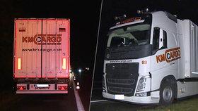 Polák ujel s kamionem po dálnici D5 šest kilometrů v protisměru: Před policisty se pozvracel