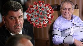 Zmatky kolem nákazy Zemanova muže, Nejedlý je vkaranténě. A co prezident?