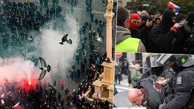 Stovky nasazených policistů! Dohlédnou na demonstrace proti vládním opatřením, věří v klidný průběh