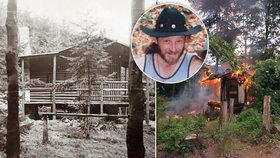 Podivná smrt trampa Freda (†70) v Beskydech: Uhořel ve svém srubu! Neštěstí, či sebevražda?