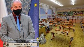 Děti se do škol 2. listopadu nevrátí, připustil Prymula. Možná tak první, druhá třída