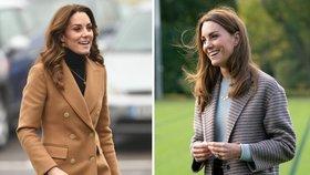Kate královnou podzimních kabátů: Zkuste to letos podle ní!