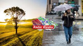 Víkend slibuje v Česku až 17 °C. Přibalte sluneční brýle i deštník a sledujte radar Blesku
