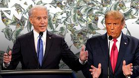 """Válka miliardářů: Trumpova """"Hvězda smrti"""" se hroutí, Biden má třikrát víc peněz na kampaň"""