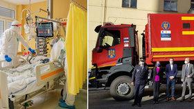 Evropa pomáhá decimovanému Česku. Na Bulovku dorazilo 30 ventilátorů z Rumunska