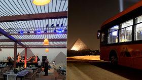 Večeře s výhledem na div světa: Egypt otevřel luxusní restauraci u pyramid v Gíze