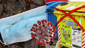 Popeláři prosí: Nevyhazujte použité respirátory do odpadu, ohrožujete nás
