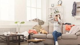Jak uklidit či zamaskovat nepořádek, když se blíží nečekaná návštěva?