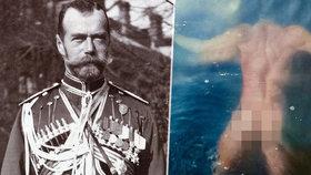 Nahé fotografie ruského cara Mikuláše II.: Postavu mu může závidět mnohý dnešní muž, osud ale ne