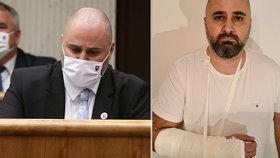 Poslanec Linhart prý napomenul policistu bez roušky: Ten mu měl zlomit ruku!