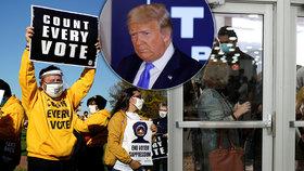 Emoce na pochodu: Trumpovi příznivci vyrazili do akce, prezident chce zastavit sčítání