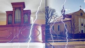 200leté varhany rozmetal kulový blesk! Klasicistní kostelík je perlou Kolodějí, co ukrývá?
