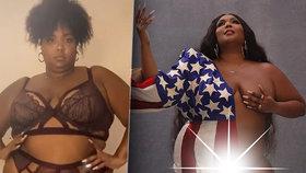 XXL zpěvačka odměnila fanoušky nahotou: Kypré křivky ani americká vlajka nezakryla!