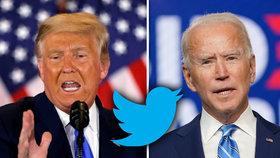 Trump zuří a ohání se soudy, Twitter mu skryl jeho zbraň. Biden vyčkává na volební výhru