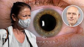 Roušky způsobují vysušení očí, zjistili lékaři. A i přes oči se můžete nakazit koronavirem