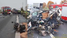 U Spomyšle došlo k tragické nehodě: Jeden mrtvý, náklaďák po nehodě začal hořet