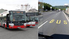 Přesnější MHD? V Praze letos přibudou další kilometry pruhů pro autobusy