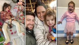 Tajemný milionář zaplatil za léčbu holčičky: Ve 4 letech se konečně poprvé postavila!