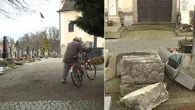 Vandalové zdevastovali hřbitov v Telči! Škoda jde do desítek tisíc