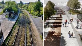 """Promenáda na kolejích: Pražská """"High Line"""" za stamiliony se začne stavět za dva roky. Takhle bude vypadat"""