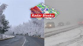 Česko zasypal sníh, kde sněžilo nejvíc? Silničáři radí opatrnost, sledujte radar Blesku