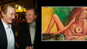 Gottův (†80) obraz za 1,5 milionu: Dražba odhalila slavného majitele! Patřil Brzobohatému (†79)!